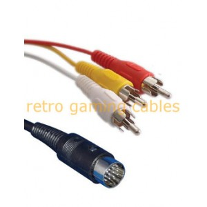 Atari ST Composite Audio Video AV RCA phono TV Cable lead